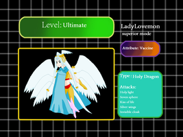 Digidex Digimon LadyLovemon superior mode by HeroHeart001