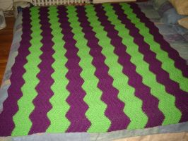 Ripple Afghan by Ginger-PolitiCat