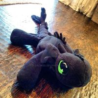My Toothless Plush (need's wings) by BLEACH-ED