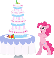 Pinkie Pie and Cake by EmberFiremane