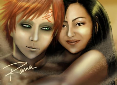 Gaara and me by RamaChan by BeautyCanBeDecieving