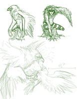 RavenKing Concept sketches by MissThunderkin