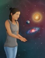 Universe, Earth and Sun by Colam
