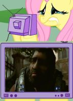 Poor Fluttershy and Dom by KillerMaverick