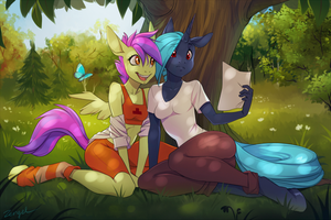 Summer Ponies by Zengel