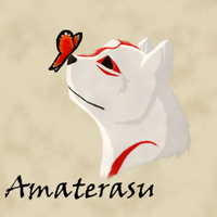 Amaterasu And Butterfly by krxterme