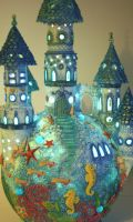 ocean castle lamp by bgerr