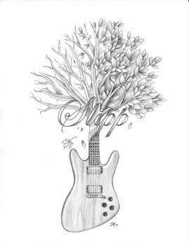 Slipp Guitar Tree by DanielleHope