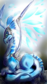 Light wing dragon by dragonariaes