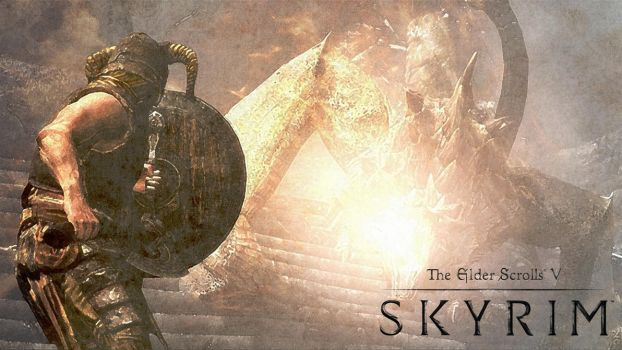 Skyrim Wallpaper by riotical