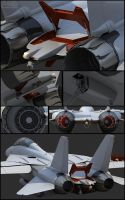 F-14D wip 3 Tail by Siregar3D