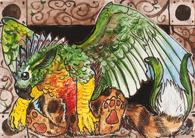 ACEO-Green Cheek by SunStateGalleries