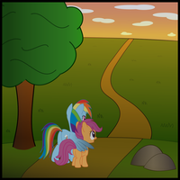 Cover Art For Song With Rainbow Dash And Scootaloo by vaser888