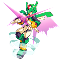 MMZX Ultimus- The Wind Mega Man by ultimatemaverickx