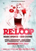 RE:LOOP Nightclub Flyer. by danwilko