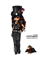 Steampunk Goth - Colored by JadeDragonne