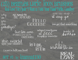 Beatles lyric brushes by inanna1130