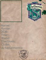 Blank Slytherin ID by BlackRoseBandKitsune