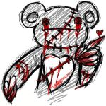 Evil teddy bear by Killer-Beast