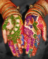 Psychedelic Henna by azizamaheen