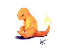 A Poke'mon a day- Charmander by bloodcult