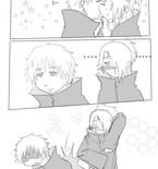 SasoDei comic - First Kiss by mariko-san
