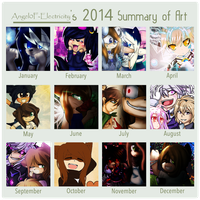 Art Summary of 2014 by Angel0F-Electricity