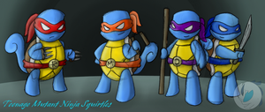 TEENAGE MUTANT NINJA SQUIRTLES by xLugiaLuver1x