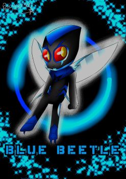 Blue Beetle Chibi :'3 by Ray-Mary360