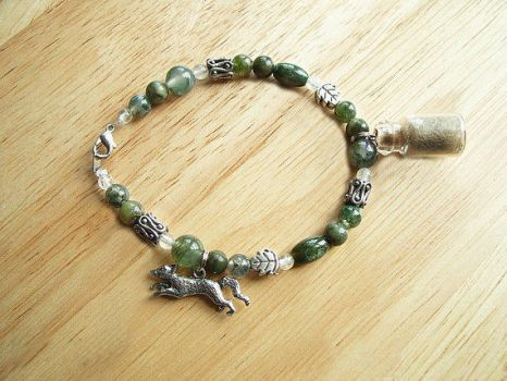 Gray Fox Forest Spirit Bracelet by DaybreaksDawn