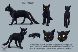 Shadowclaw - character design by JazzTheTiger