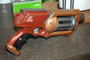 Steam Punk Nerf Maverick 3-2 by JohnsonArms