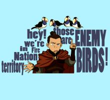 Wouldn't Want a Bird to Hear Us... Sokka t-shirt by Lantis-Erin