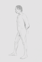 Figure Drawing - Man 2 by DirkMeister