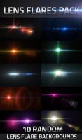 10 Lens Flares Pack by virusowy