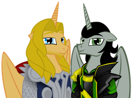 MLP: loki and thor by lizzytheviking