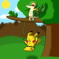 Snivy Swing by WaffleFox