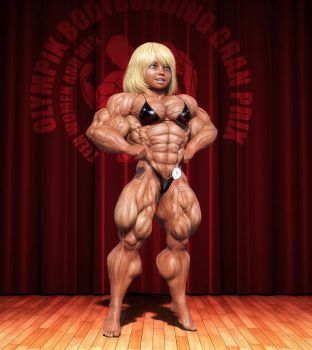 Denise's first bodybuilding show by lolimuscle