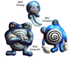 PoliwagPoliwhirlPoliwrath ohmy by GrayWolfShadow