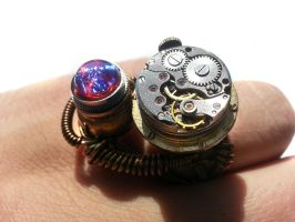 Dragon's Breath Steampunk Ring by CatherinetteRings