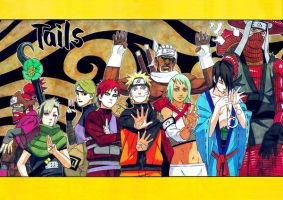 Naruto 420 Poster - 'Tails' by Amaranth-Sparrow