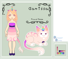 Ref - Carissa the UniCat by StargazerSammie