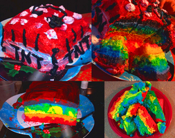 HOMOSEXUAL MINECRAFT CAKE by MoggieDelight
