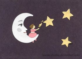 classwork: mister moon by Kaede-chama