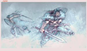 the Barbarian by crispawn