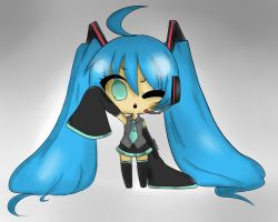 Hatsune Miku Colored Chibi by xxshadowbloodxx