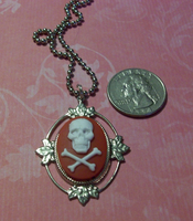 Blood Red Skull Necklace by Prepare-Your-Bladder