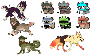 More Adopts STILL OPEN by MochaPupp