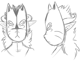 Head sketches by Lozey