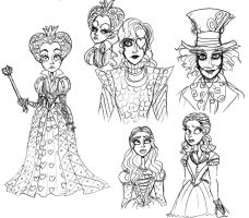 Tim Butons Alice sketches by Lily-pily